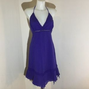 Le Chateau purple halter dress size small